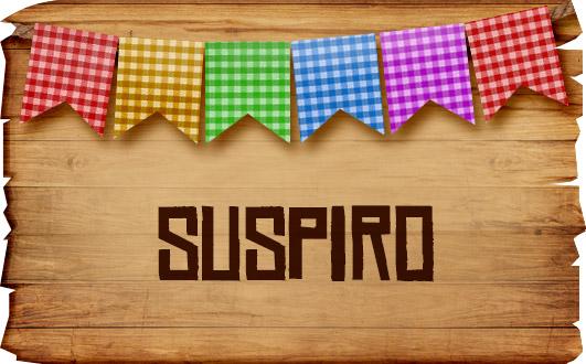 Plaquinhas de Comida para Festa Junina Suspiro