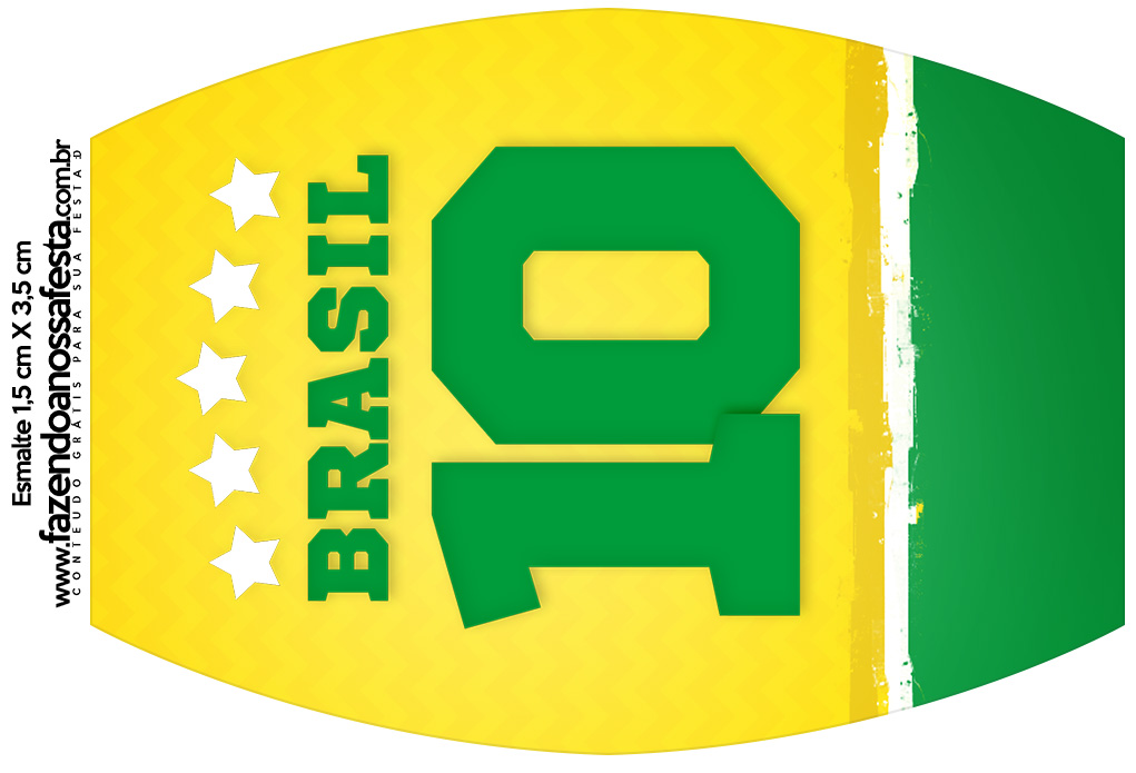 Rotulo Esmalte Copa do Mundo
