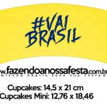 Saias Wrappers para Cupcakes Copa do Mundo