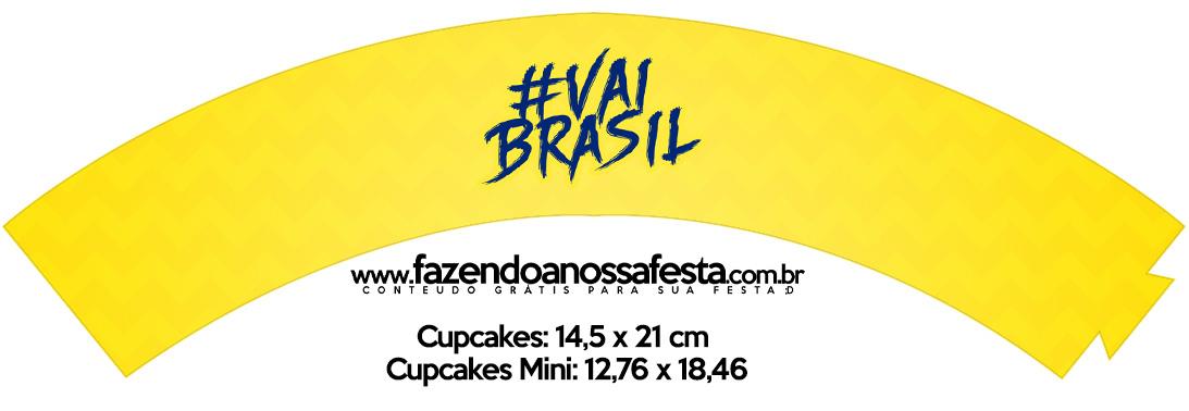 Saias Wrappers para Cupcakes Copa do Mundo