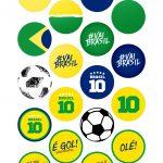 Toppers Brasil Copa do Mundo Moldes Especiais para Copa do Mundo