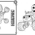 2 Livrinho para Colorir Blaze and the Monster Machines