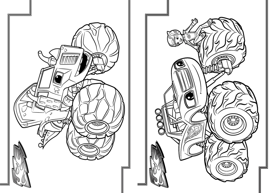 3 Livrinho para Colorir Blaze and the Monster Machines
