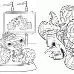 5 Revistinha para colorir Blaze and the monster machines 2