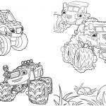 7 Livrinho para Colorir Blaze and the Monster Machines