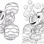 9 Revistinha para colorir Blaze and the monster machines 2