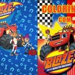 Capa Revistinha para colorir Blaze and the monster machines 2