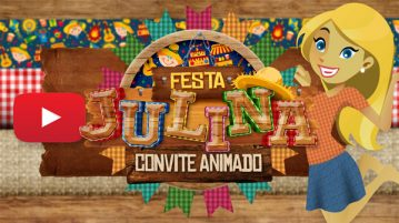 Convite Animado Virtual Festa Julina