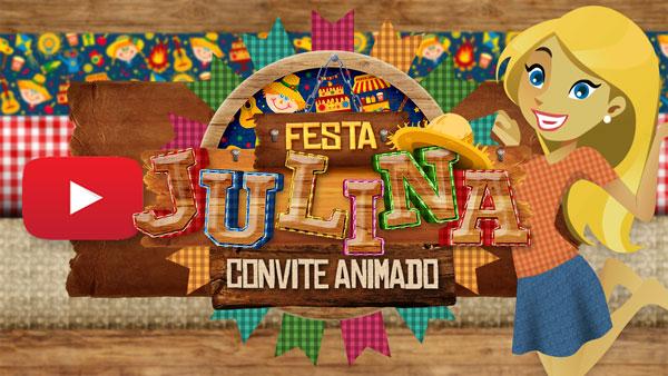 Convite Animado Virtual Festa Julina
