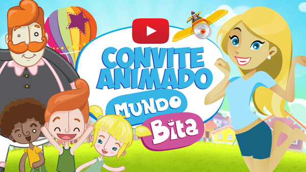 Convite Animado Virtual Mundo Bita