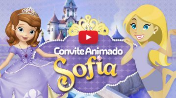 Convite Animado Virtual Princesa Sofia