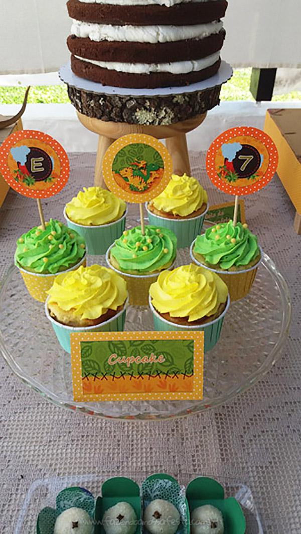 Cupcakes 2 Festa Dinossauro do Eduardo