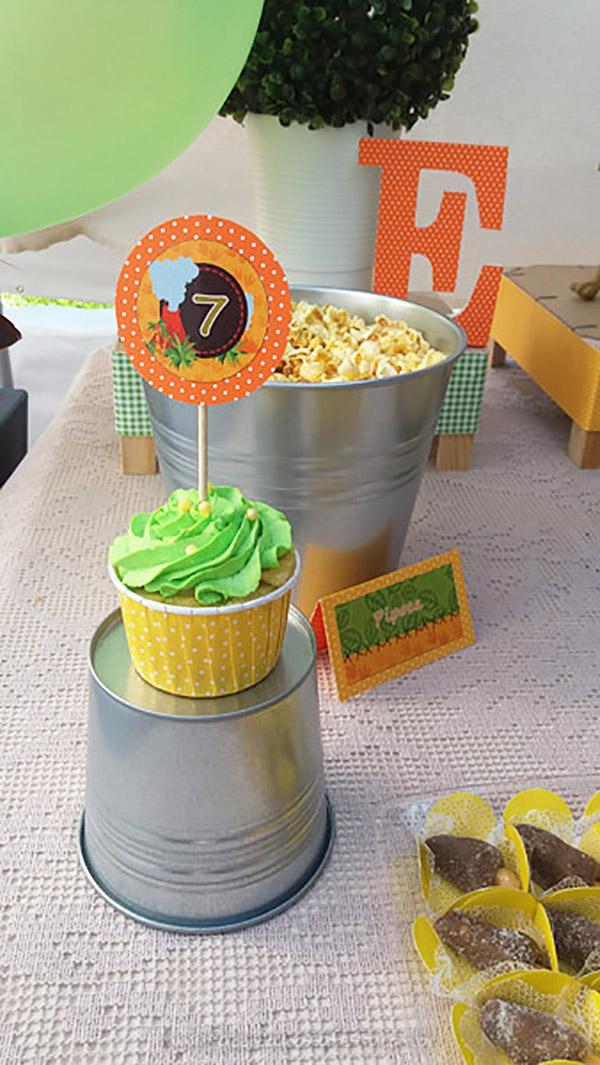 Cupcakes Festa Dinossauro do Eduardo