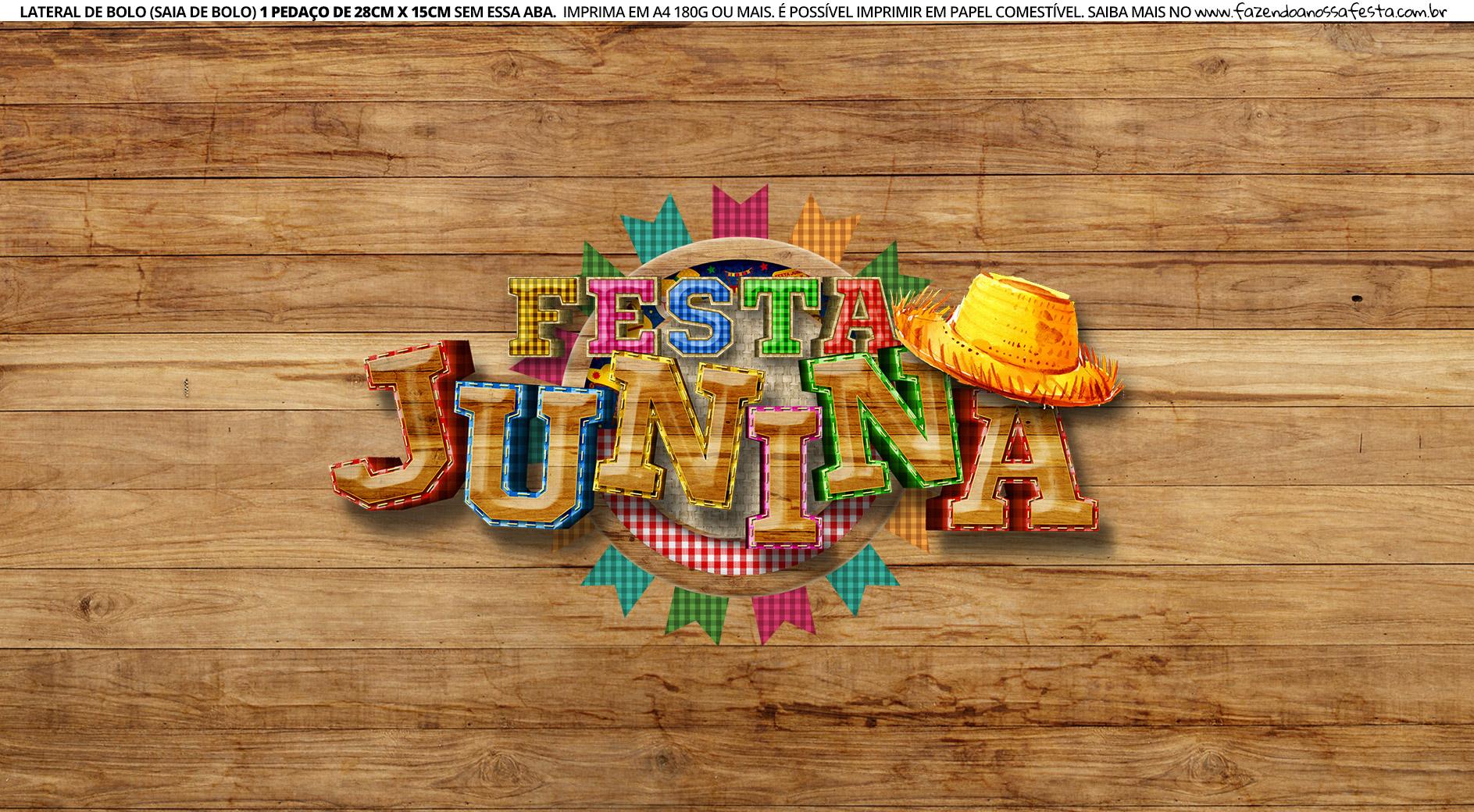 Faixa Lateral de Bolo Festa Junina 3 03