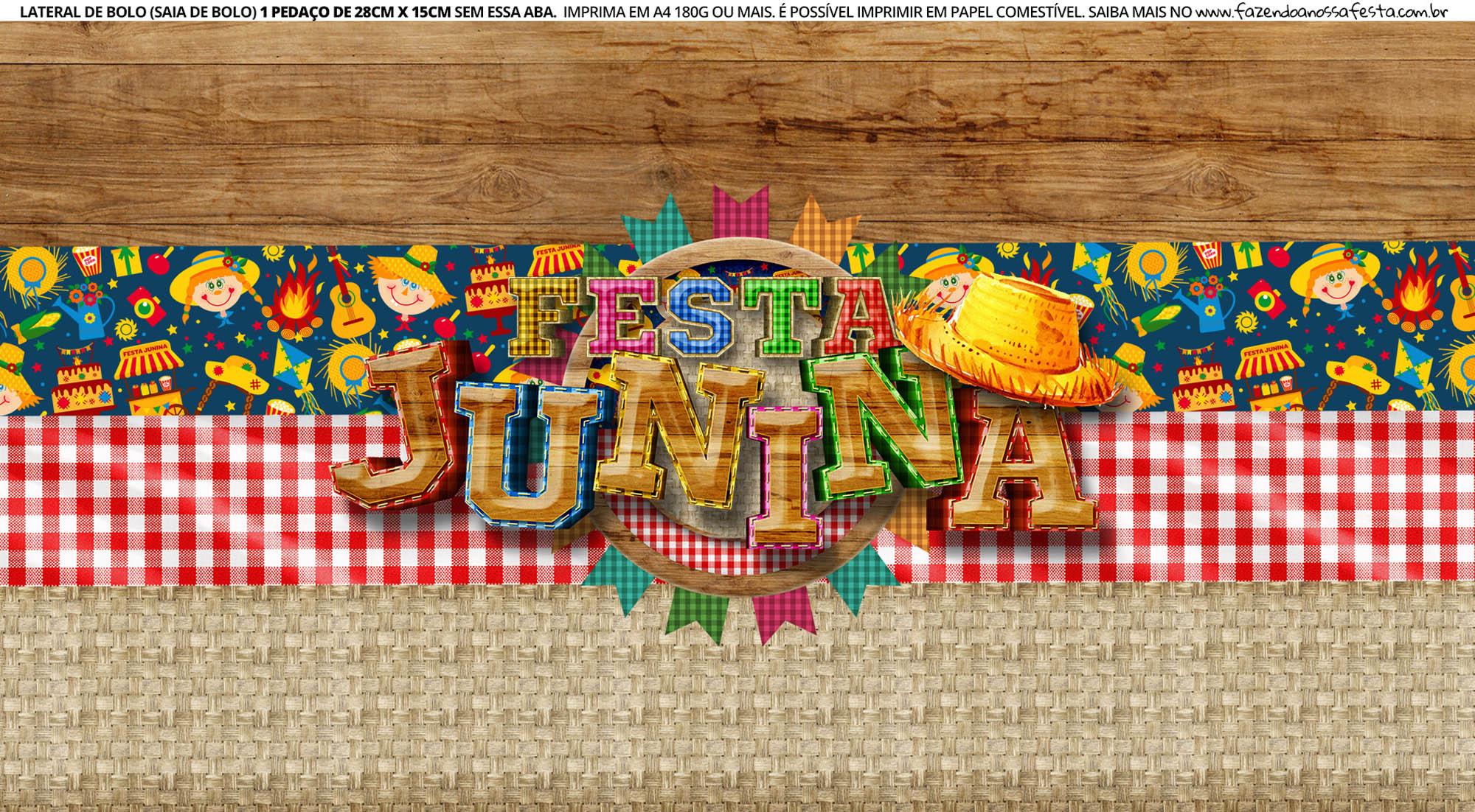 Faixa Lateral de Bolo Festa Junina 4 03