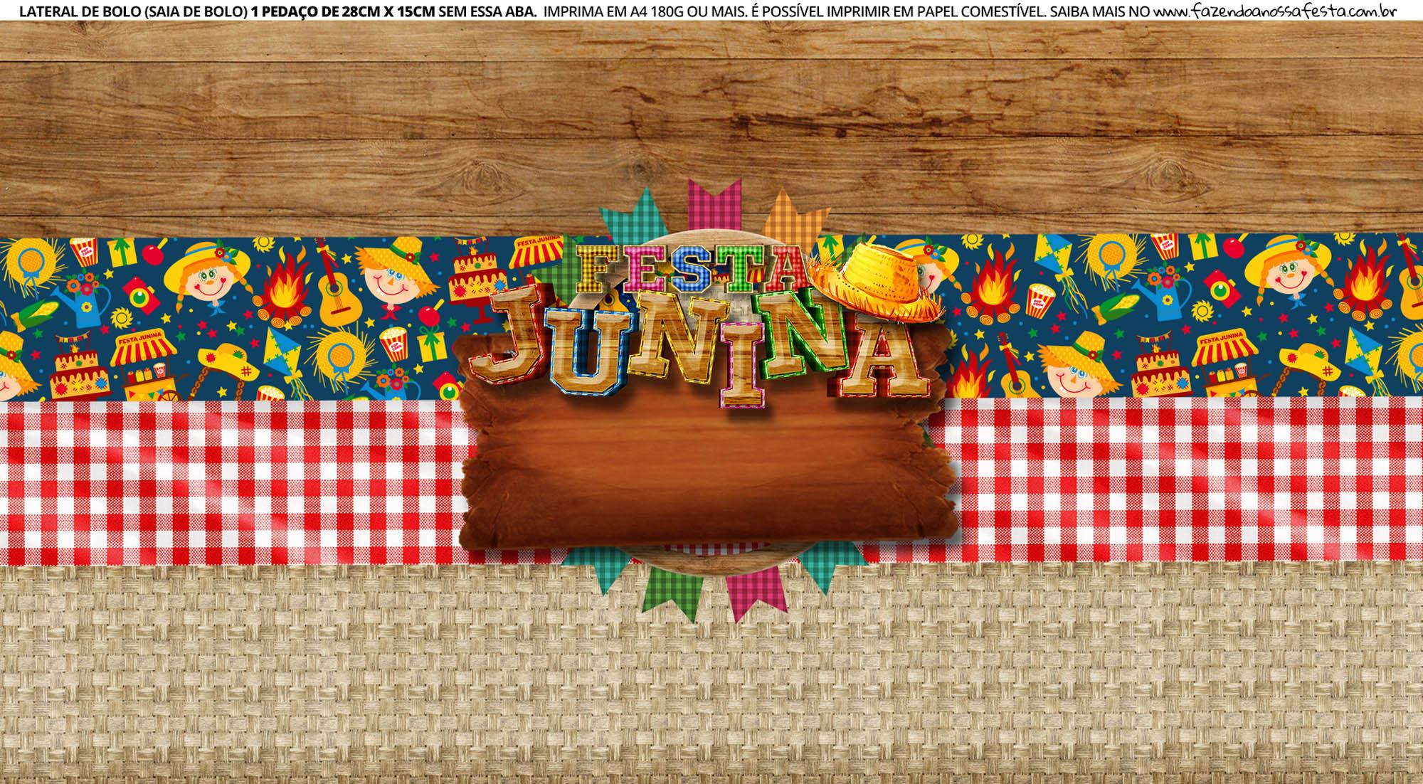 Faixa Lateral de Bolo Festa Junina 6 03