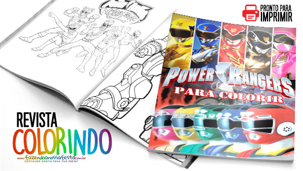 Revista para Colorir Power Rangers