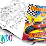 Livrinho para Colorir Blaze and the Monster Machines Grátis para Imprimir