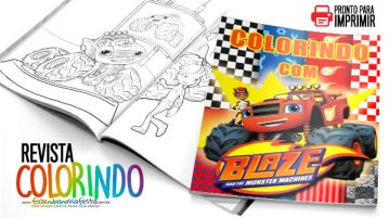 Revista para Colorir Blaze and the Monster Machines