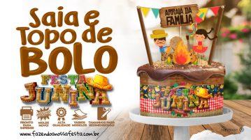 Topo de bolo e Lateral de Bolo para Festa Junina