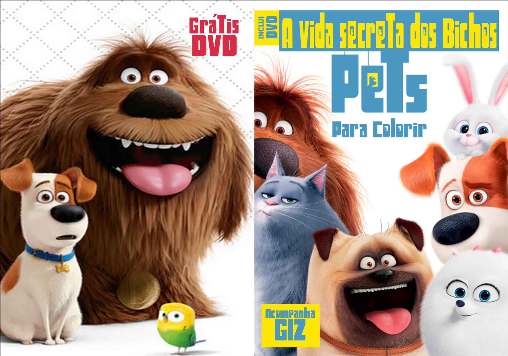 0 Livrinho para Colorir Pets a Vida secreta dos bichos