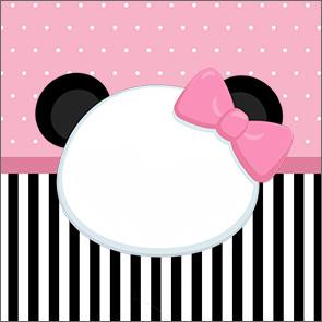 Adesivo Acrilico Quadrado Panda Rosa