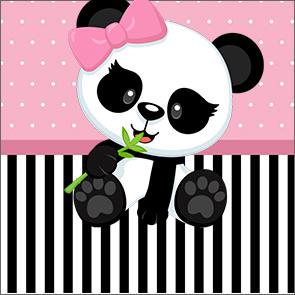 Adesivo Caixa Acrilico Panda Rosa