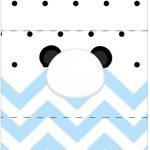 Bala Personalizada Panda Azul Personalizados para Festa