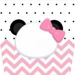 Balde de Pipoca Panda Rosa Personalizados para Festa
