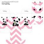 Baleiro Panda Rosa Personalizados para Festa