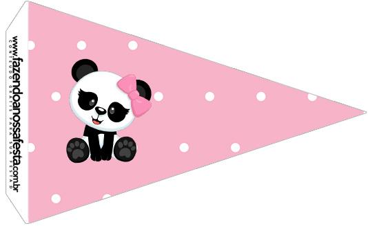 Bandeirinha Sanduiche 2 Panda Rosa