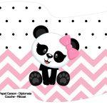 Bandeirinha Varalzinho Panda Rosa Personalizados para Festa