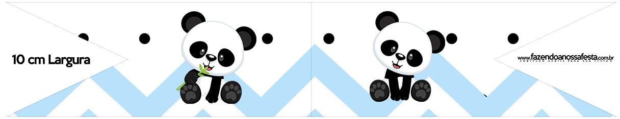 Bandeirinha para Sanduiche Panda Azul