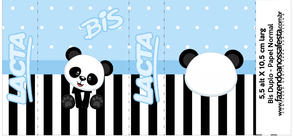 Bis Duplo Panda Azul Kit Festa