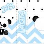 Bis Duplo Panda Azul Personalizados para Festa