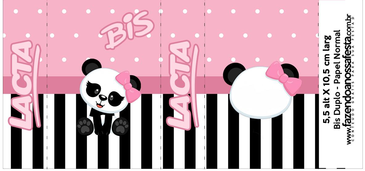 Bis Duplo Panda Rosa Kit Festa