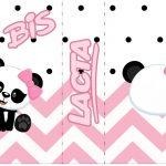 Bis Duplo Panda Rosa Personalizados para Festa