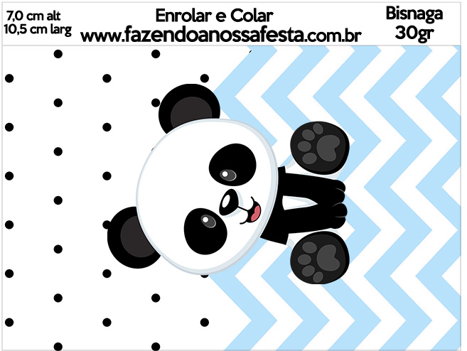 Bisnaga Brigadeiro 30gr Panda Azul