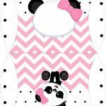 Bolsinha para lembrancinha Panda Rosa Menina