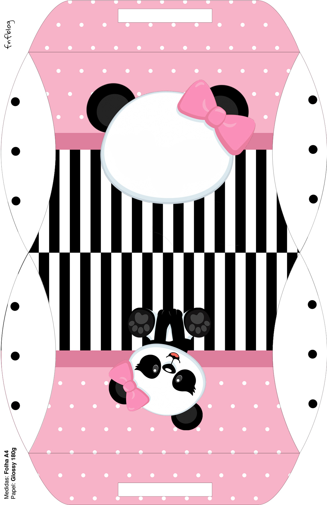 Bolsinha para lembrancinha Panda Rosa