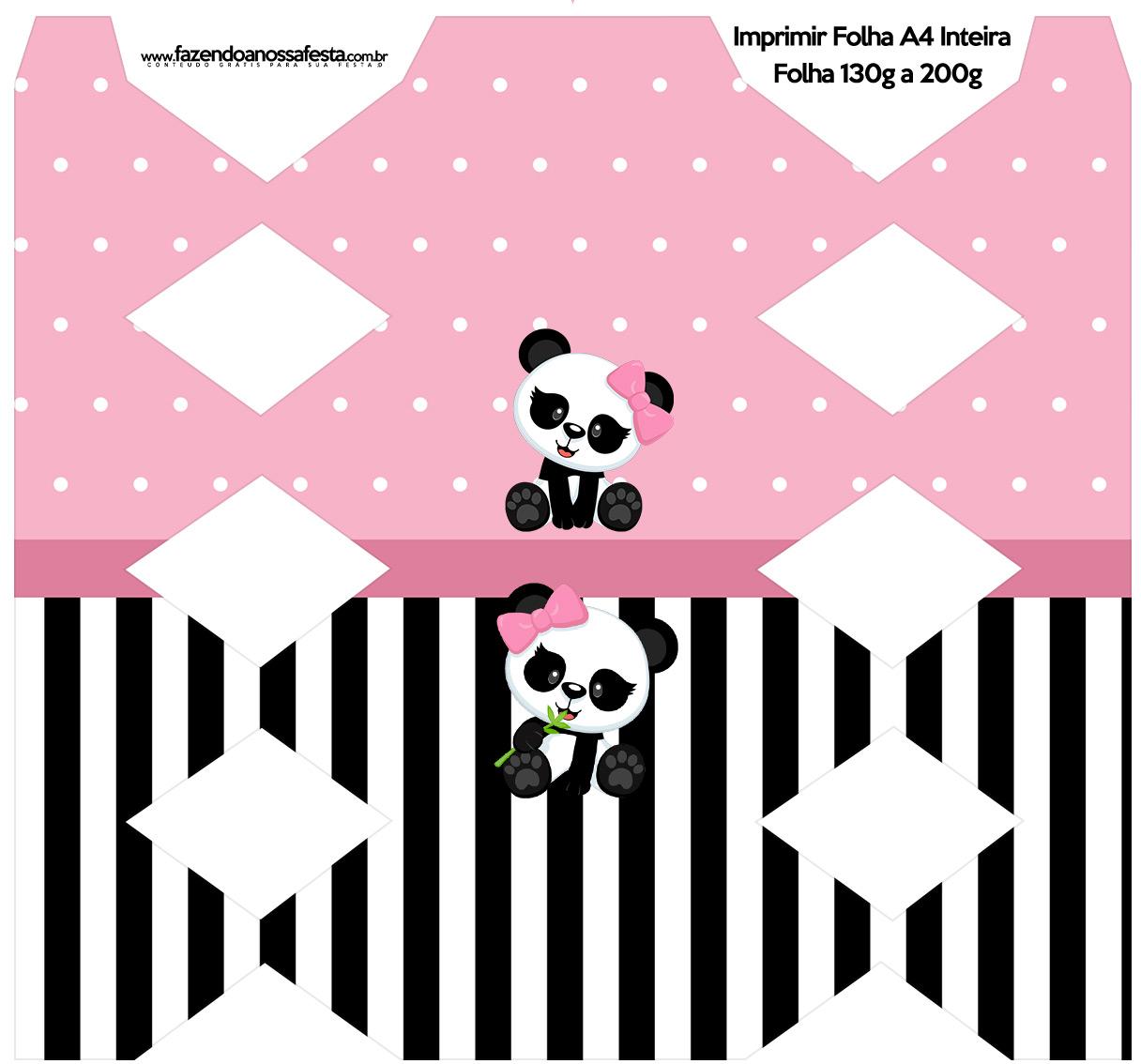 Caixa Bala Panda Rosa