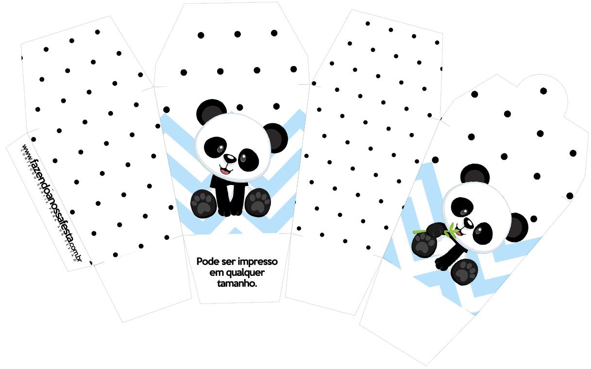 Caixa China in Box Panda Azul