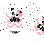 Caixa China in Box Panda Rosa Menina