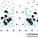 Caixa Coracao Panda Azul