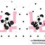 Caixa Coracao Panda Rosa Menina