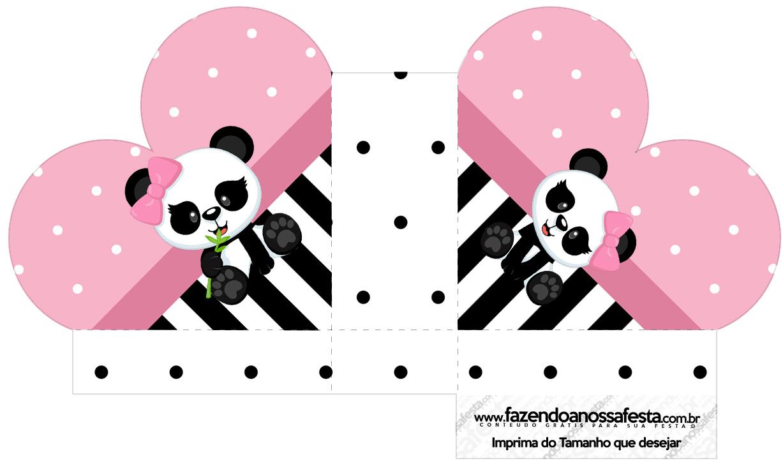 Caixa Coracao Panda Rosa
