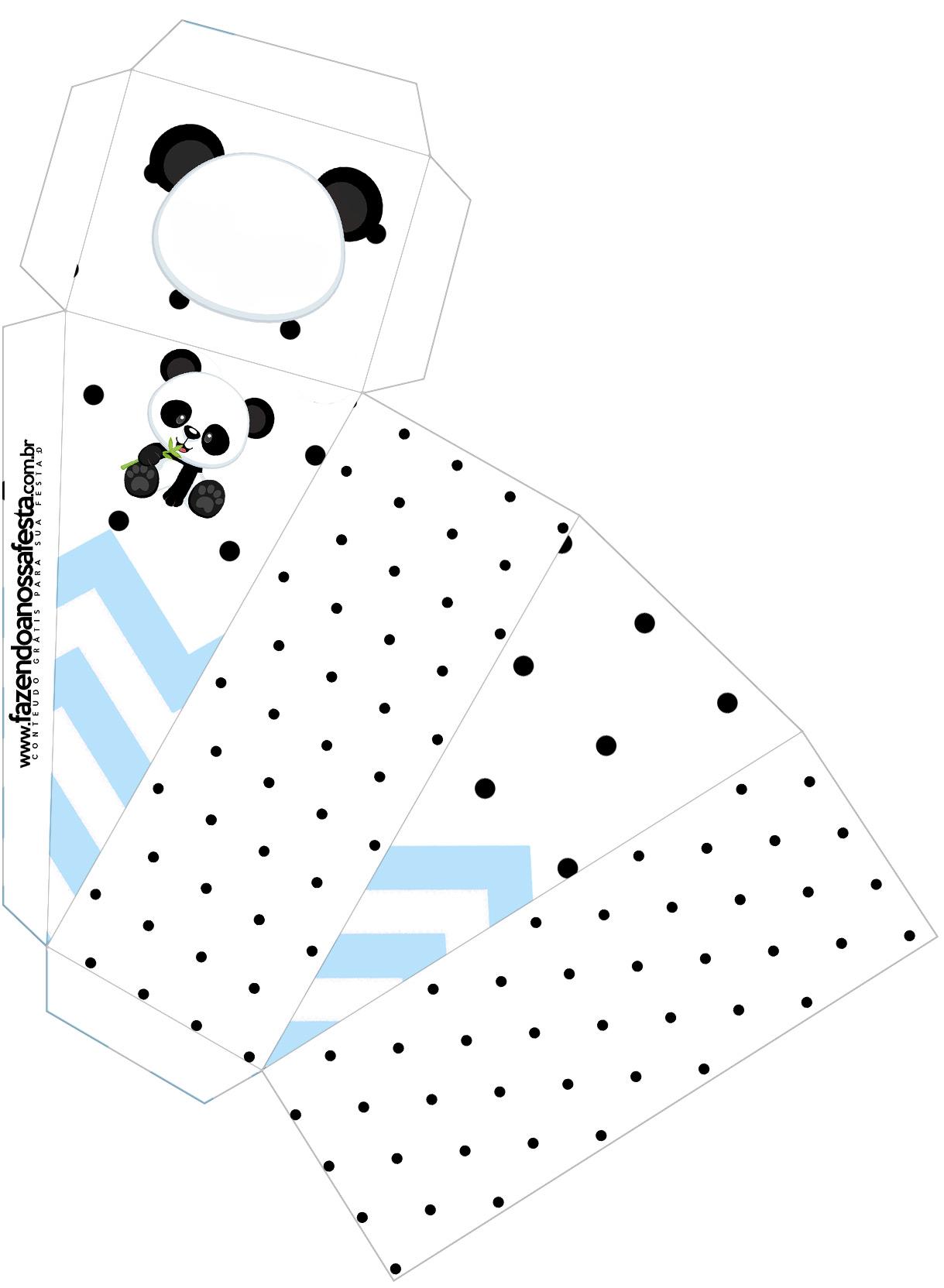 Caixa Fatia Panda Azul