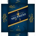 Caixa Mini Whisky para Dia dos Pais Azul Frente