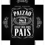 Caixa Mini Whisky para Dia dos Pais Preto Frente