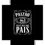 Caixa Mini Whisky para Dia dos Pais Preto Verso